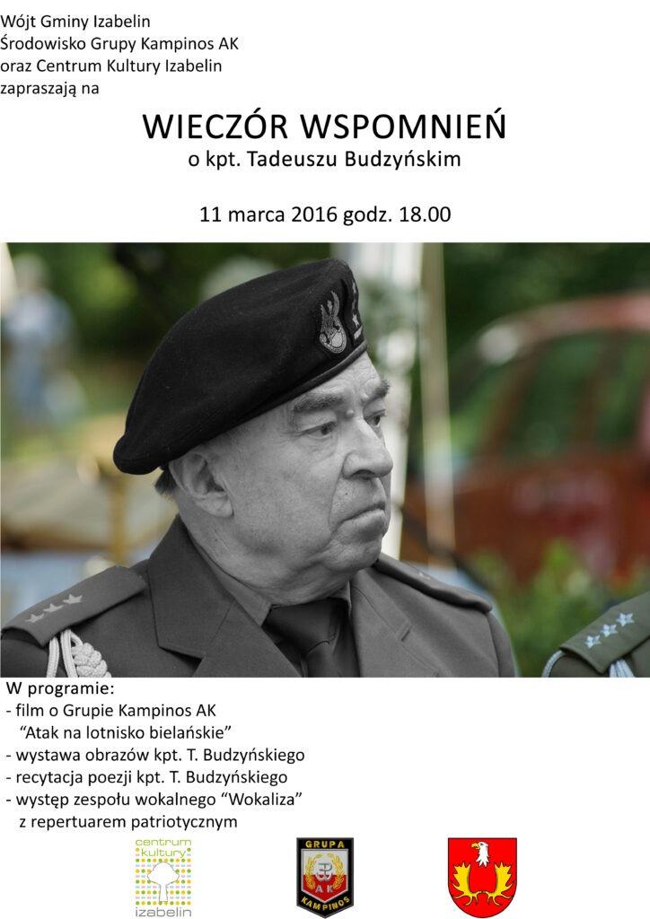 Plakat T. Budzyńsk